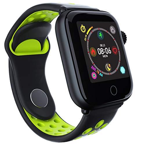 Smartwatch Wasserdicht IP68, Elospy Smart Watch Uhr mit Pulsmesser Fitness Tracker Sport Uhr Fitness Uhr mit Schrittzähler Kalorienzähler Schlaf-Monitor SMS Benachrichtigung Push für Android und iOS