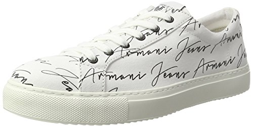 Armani Jeans 9350637p404, Sneakers basses homme Weiß (bianco)