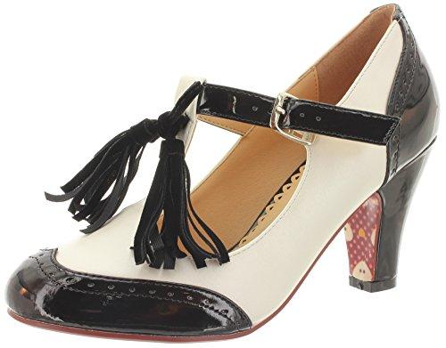 Jours De Danse - Chaussures À Bride Cheville Noir / Blanc Femme