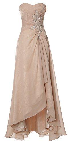 MACloth - Robe - Trapèze - Sans Manche - Femme Champagne