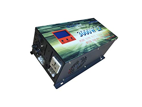 Onduleur Convertisseur onde Pure 3000 W continu Pico de Arranca 9000 W 24 V Chargeur alternatif 50 Amp