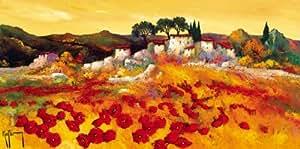 Reproduction d'art 'Provence Doree', de Roger Keiflin, Taille: 100 x 50 cm