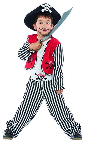 Schiff Kapitän Kostüm Junge - Ben der kleine Pirat Kinder Kostüm