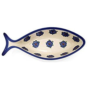 Classic Boleslawiec Pottery Hand Painted Ceramic Fish Bowl 0.3 Litre 504-U-001