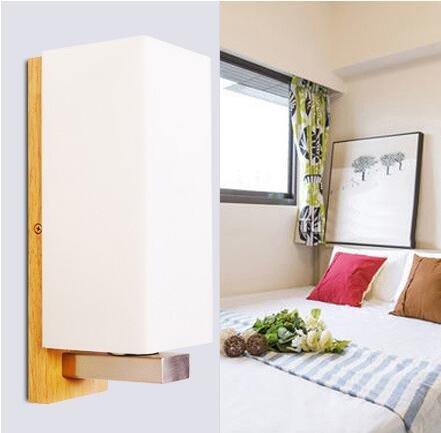 Lifme Moderne, Einfache Massivholz Schlafzimmer Fortschritte Kreative Vogue Wandleuchte Led