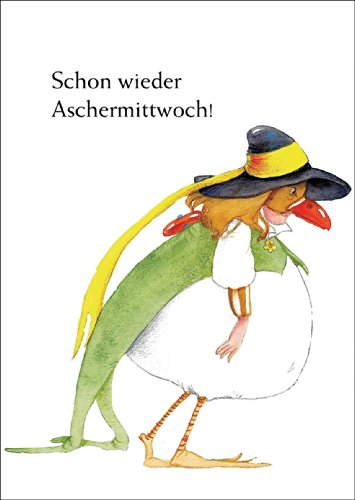 Faschings Kehraus Karte mit lustiger Verkleidung: Schon wieder Aschermittwoch • auch zum direkt Versenden mit ihrem persönlichen Text als (Kostüme Wünsche 4)