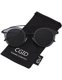 CGID MJ86 Mode Femme Double Cercle UV400 Lentille Miroir Polarisées Lunettes de soleil