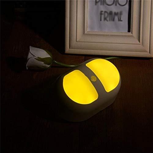 WJGJ Bewegungsmelder Schrank Licht Motion Licht Lichtsteuerung Doppel Induktions Nachtlicht Körper Induktionslampe Bücherregal Kleiderschrank Gang Küchenlampe (Farbe : Yellow) -