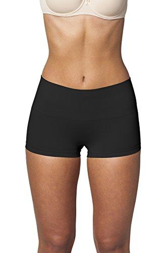 Sleex guaina modellante boy shorts, nero, taglia s/m (44038) - intimo contenitivo