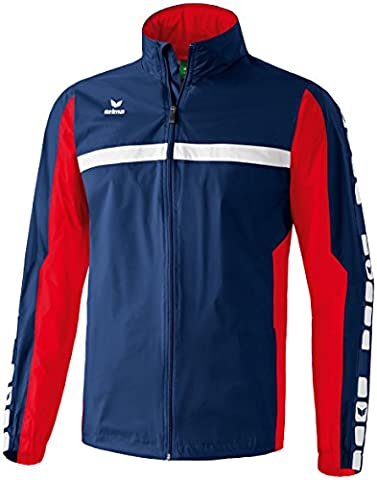 ERIMA Kids Classic 5-Cubes Rain Jacket - New Navy/Red,