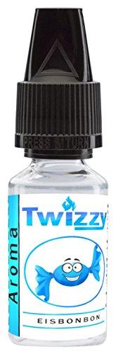 10ml Twizzy Eisbonbon Aroma | Aroma für Shakes, Backen, Cocktails, Eis | Aroma für Dampf Liquid und E-Shishas | Flav Drops | Ohne Nikotin 0,0mg