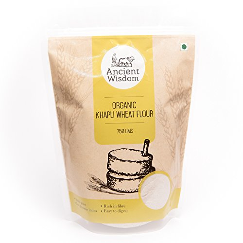 Ancient Wisdom Organic Khapli Wheat Flour 750 GMS (Emmer | Heirloom | Ancient)