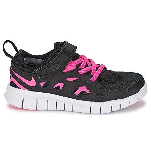 Nike Free Run 2 Black White Kids Trainers Multicolore