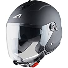 Astone Helmets Mini Jet, Casco Jet, color Negro Mate, talla L