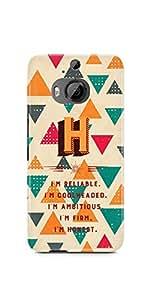 Casenation Alphabet H HTC One M9 Plus Case Principle