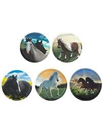 Ergobag Accessoires Klettbilder-Set 5-tlg Kletties Wilde Pferde 034 wilde pferde