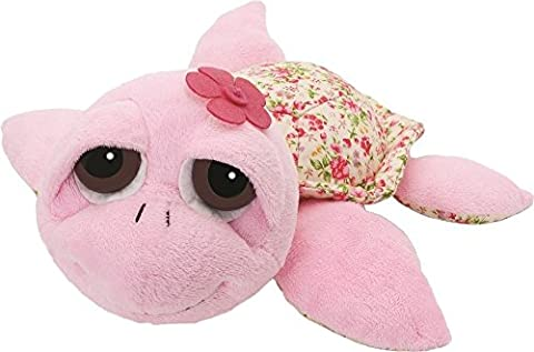 Suki Gifts Little Peepers Turtle Soft Boa Plush Toy (Pink and Floral, Small)