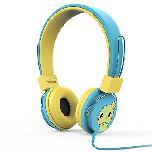 MoKo Kinder Kopfhörer - 1.5m On-Ear-Kopfhörer Music Gaming Wired Leicht Kopfhörer Headset Headphone mit Lautstärkenregler für IOS/Android Smartphones, Tablets, Computer, MP3 / 4 Players, Blau B/w Wired Video