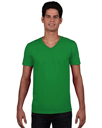 Gildan Herren Soft Style V-Neck T-Shirt Irish Green