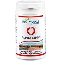 BioProphyl® Alpha Lipon - 300 mg rein natürliche - (R)-Alpha Liponsäure - ohne synthetische (S)-Alpha Liponsäure - mit Vitamin E und Niacin - 60 pflanzliche Kapseln