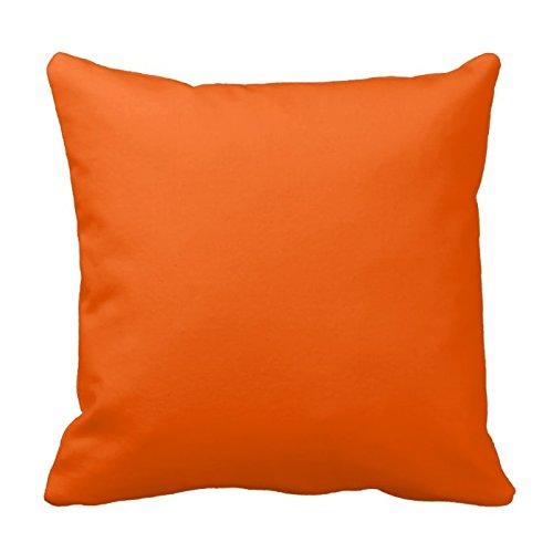NEON ORANGE Farbe Trend blanko Vorlage Kissen quadratisch Überwurf Kissenbezug Kissen Schutzhülle mit verstecktem Reißverschluss Kissenbezüge für Wohnzimmer Sofa 20in (Neon-orange Kissen)