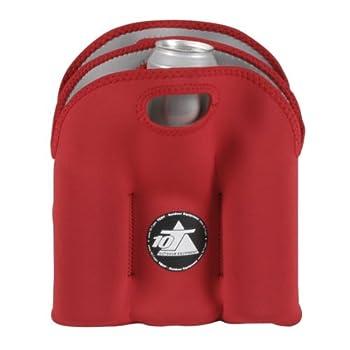 10t Outdoor Equipment 10t Cooler 6 X 500ml Neopren Dosenkühler Flaschenkühler Kühler Getränkekühler Kühltasche Mit Tragegriff 12