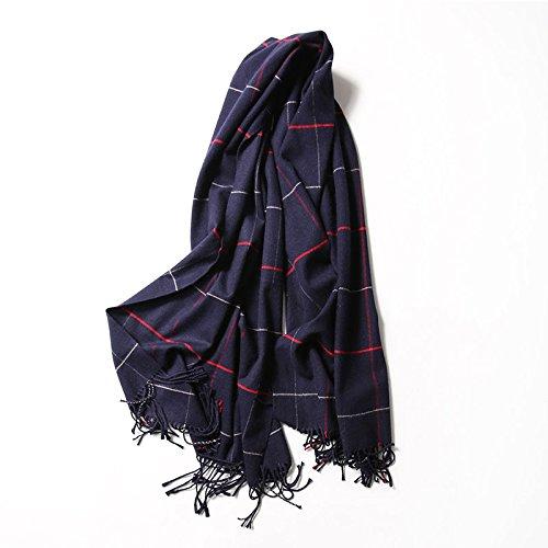 FLYRCX Der Herbst und Winter Frauen Quaste wie Kaschmir Schals für lange und atmungsaktiv lange Schals 200cmx60cm, H