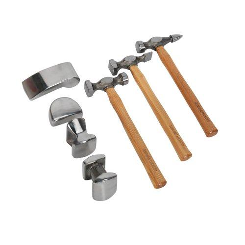 sealey-cb507-valigetta-con-kit-di-martelli-e-tassi-per-carrozziere-manico-in-carya-7-pezzi