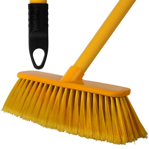 2-pack-of-28cm-yellow-soft-deluxe-floor-sweeping-brush-brooms-with-120cm-handle-comes-with-tch-anti-