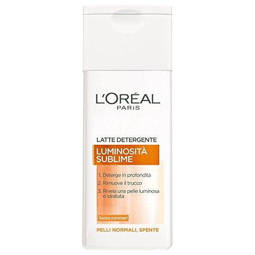 L'Oréal Paris Luminosità Sublime Latte Detergente per Pelli Normali Spente,