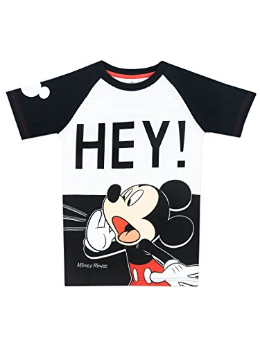 (Disney Mickey Mouse Jungen Mickey Mouse T-Shirt - 122cm)