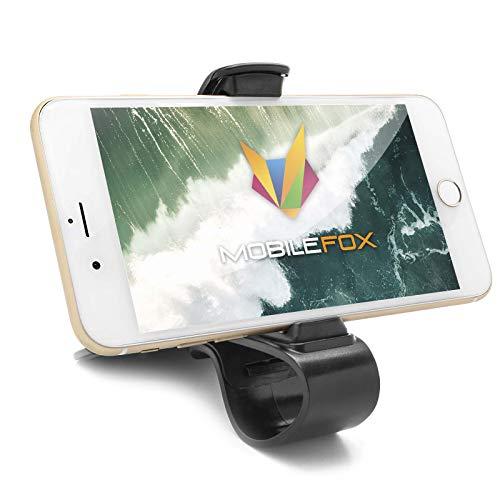 mobilefox® Universal KFZ Klemmbacken Armaturenbrett Handy Halterung Auto Clip Halter (Clip Für Handy)