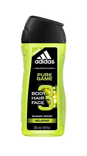 adidas Pure Game 3in1 Shower Gel 250ml men, 6er Pack