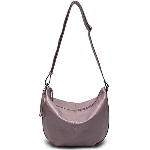 Chlln Damen Leder Leder Damen Ranzen Einheitlichen Umhängetasche Handtasche Einfach Lilac colour