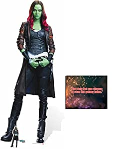 Fan Pack - Gamora Guardians Of The Galaxy Vol. 2 Lifesize and Mini Cardboard Standup / Cutout - Plus 8x10 Star Photo