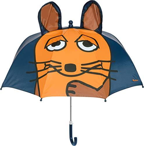 Playshoes Mädchen 3D Maus Regenschirm, Blau (Marine 11), One Size