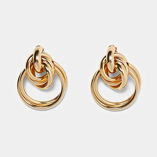 TIAN Metallharz Kristall Anhänger Ohrringe Frauen Geometrische Charm Ohrringe Handgemachten Schmuck -