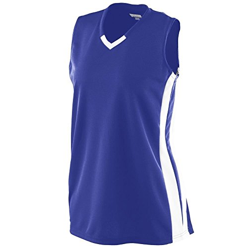 Augusta - T-shirt de sport - Femme Multicolore - Violet/blanc