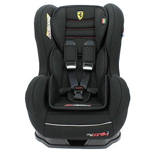 Mycarsit Siège Auto Ferrari, Groupe 0+/1 (de 0 à 18 kg), Noir