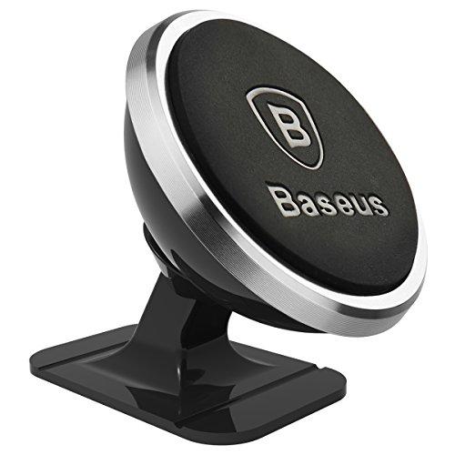 AFAITH magnetico porta cellulare, Baseus ruotabile di 360 gradi supporto magnetico da auto per iPhone 7/iPhone 7 Plus/iPhone 6s/6 Plus, Samsung Galaxy S8/S7 Edge/S6 Edge, Huawei P9/P10, HTC, Blackberry, smartphone BA002S