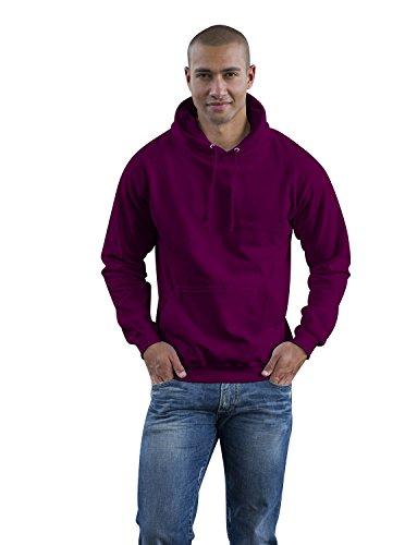 JH001 College Hoodie Kapuzenpullover Sweatshirt Kapuzensweatshirt, Farbe:PLUM;Größen:L L,Plum