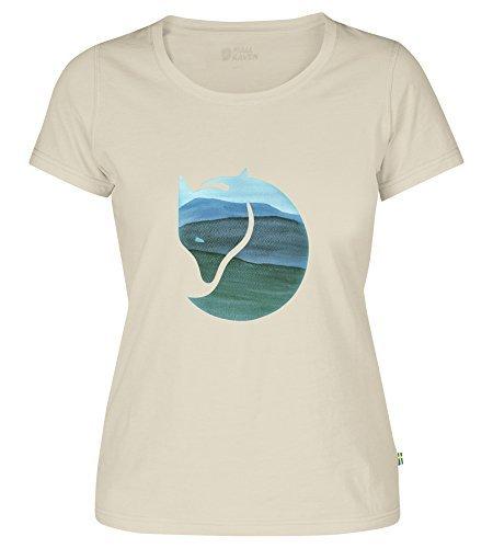 Fjällräven Damen Watercolour Fox W Blusen & T-Shirts Chalk White