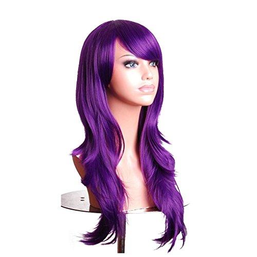 n Mädchen 70cm lockige Perücken Cosplay Anime-Partei-Haar-wellenförmige Lange Haarteil Perücke synthetischem Haar ()