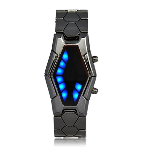 TechAffect--Futuristic-Japanese-Style-Blue-LED-Watch-with-dark-metal-strap