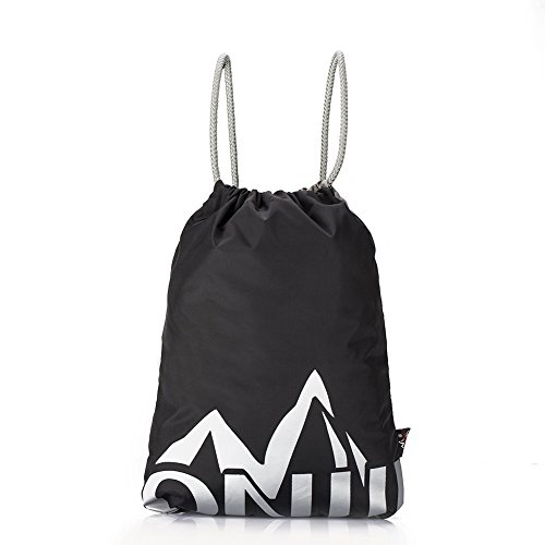 Gym Sack, GSTEK Nylon Training Gymsack Gym Sackpack Bag Drawstring Backpack Light Sport Bags Pack for Men & Women (Drawstring-sport-pack)