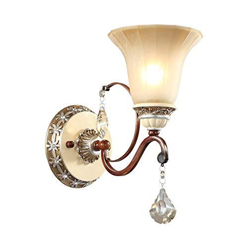 Style européen américain mur lumières de fer résine antique E27 salon mur lampes de chevet chambre chevets escalier couloir appareils d'éclairage,B