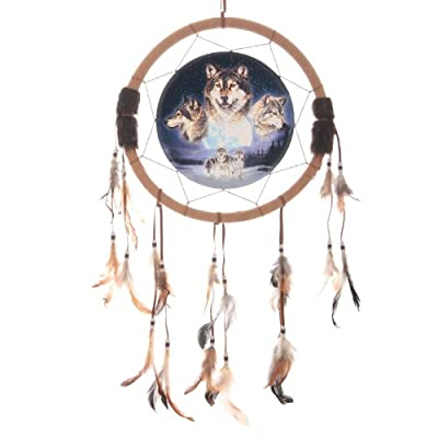 Wolf Dreamcatcher, Full Moon with Wolves