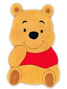 Disney Tapis Enfants / pour chambre d'enfants Winnie l'ourson pas cher Marron 50x80 cm / Label de qualité: Label de qualité TÜV / Composition exacte: 100% Acrylique / Hauteur: de 11 à 20 mm / Motifs: Motifs animals / Fabrication:Tufté à la main / Pièces: Chambre d'enfants