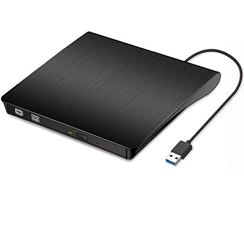 LIGHTOP Externes DVD Laufwerk CD DVD RW Brenner Schreiber Player Tragbare Slim USB 3.0 für Windows 7/8 / 10, Laptop, Mac, MacBook Air/Pro, Apple, Desktop, PC-Plug & Play