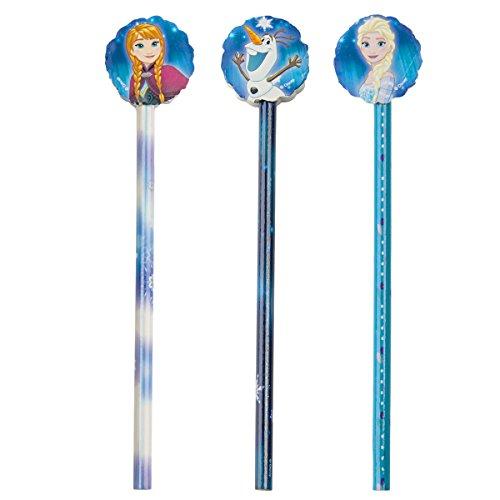 Disney Frozen Die Eiskönigin Stifte Set 3x Bleistift + 3x Radiergummi für Kinder Schule Mitgebsel